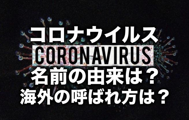 コロナウイルスの名前の由来